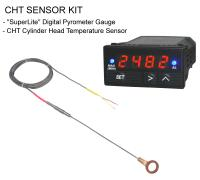 CHT Digital Pyrometer Gauge + CHT-FS Cylinder Head Temperature Sensor Kit