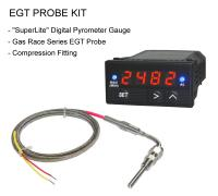 EGT Digital Pyrometer Gauge + Probe Kit - Gas Race Series EP